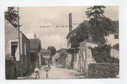 - CPA PONCEY (21) - Quartier Du Bas (avec Personnages) - Edition Guillemaut - - France