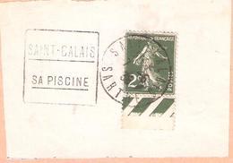 2c.semeuse Camée Sur Fragment Oblitéré SAINT CALAIS Sarthe Daguin SAINT CALAIS SA PISCINE - Marcophilie (Lettres)