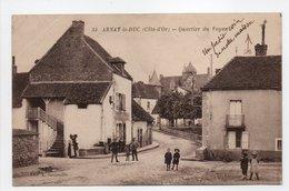 - CPA ARNAY-LE-DUC (21) - Quartier Du Voyen (avec Personnages) - Edition Senneville N° 35 - - Arnay Le Duc