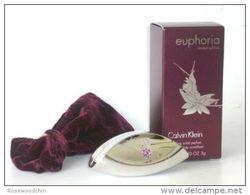 Limited Edition !!  Calvin Klein CK Euphoria Sparkling Solid Perfume  (0.10 Oz) - Miniatures Womens' Fragrances (in Box)