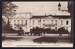 MONTPELLIER: Belle Vue éclairée Sur L'Institut Physiothérapique. Carte Obl. En 1923. - Montpellier