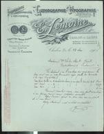 Devis Lemoine - Lithographie Typographie - Chalon Sur Saône - Mai 1905 - 21 X 27 Cm - France