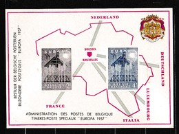 1957 Belgio, EUROPA CEPT STAMPATO COMMEMORATIVO MNH** Belgium COMMEMORATIVE PRINTED - Europa-CEPT