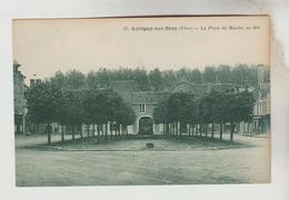 CPSM AUBIGNY SUR NERE (Cher) - La Place Du Marché Au Blé - Aubigny Sur Nere