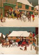 Illustrateur : Harry Elliot : Lot De 4 Cartes Barré-Dayez , Série 829 A,B,C,D - Elliot