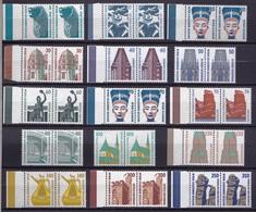 Berlin, 1987-1990, Aus Nr. 793-874** Kompletter Satz Sehenswürdigkeiten (SWK), 15 Waagerechte Paare - Berlin (West)