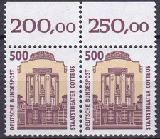 BRD, 1993, Nr. 1679 ** Sehenswürdigkeiten (XIV),  Oberrand-Paar - Nuovi