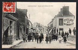 PONTCHATEAU: Belle Animation Sur La Route De St. Gildas Des Bois. Carte Obl. En 1911 - Pontchâteau