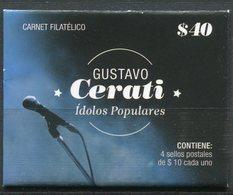 Argentine - 2015 - Yt 3095/3098 - Idoles Populaires - Gustavo Cerati - En Carnet Fermé ** - Ungebraucht
