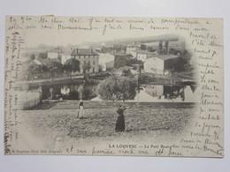 Cpa, Carte Primaire, Trés Belle Vue Animée, LA LOUVESC, Le Petit Bourg - La Louvesc
