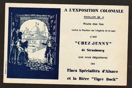 """STRASBOURG: Belle Carte Illustrée Pub D'Alsace De """"Chez Jenny"""" à L'exposition Coloniale Internationale De Paris......... - Strasbourg"""