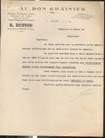 """Courrier """" Au Bon Grainier """" Ets Boivin à Chagny - Objet : Avoine De Semence - 6/4/1944 - 1800 – 1899"""
