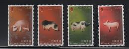LOT 82 - HONG KONG N° 1321/1324  **  -  COCHONS - Ferme