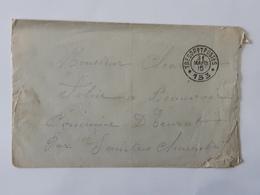 Cachet Tresor Et Postes 153 Sur Lettre Envoyée Vers Saintes ... Lot41 . - Postmark Collection (Covers)