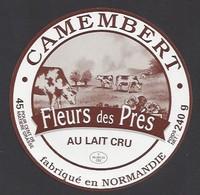 Etiquette  Fromage Camembert -  Fleurs Des Prés  - Fabriqué En Normandie - Cheese