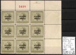 D - [409785]TB//**/Mnh-Ruanda-Urundi 1924 - N° 53-PL3, 20c Olive, N° Planche 3, Bloc Cdf, RARE - Ruanda-Urundi