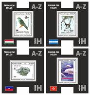 S. TOME & PRINCIPE 2019 - Fauna On Stamps H, 4 S/S. Official Issue. - Errori Sui Francobolli