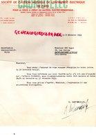 75- PARIS- RARE LETTRE CAUMUTELEC - CAUTION MUTUELLE ENTREPRISE ELECTRIQUE- ELECTRICITE-25 RUE LENINGRAD-1953 - Electricity & Gas