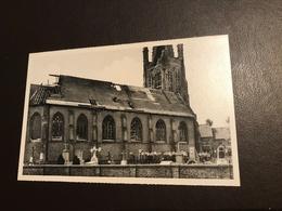 Boezinge (Ieper) - Kerk  Zicht Op Toren En Noorderbeuk Na Bombardement Mei 1940 - Ieper