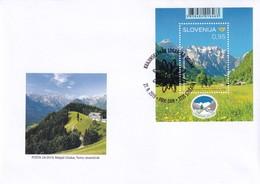 Slovenia Slowenien Slovenie: 2019 FDC Cover: Nature Protection; Logarska Dolina / Valley; Mountains; Flora Flowers - Holidays & Tourism