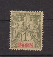 DIEGO-SUAREZ          N°  YVERT  :  37      NEUF AVEC  CHARNIERES      (  CH  01/11 ) - Diégo-Suarez (1890-1898)