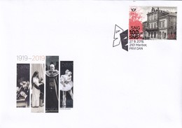 Slovenia Slowenien Slovenie: 2019 FDC Cover: Architecture National Theatre Maribor; Balet; Opera; Microscope; Masks - Architektur