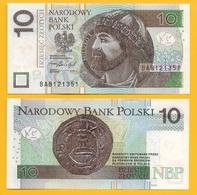 Poland 10 Zlotych P-183b 2016 UNC Banknote - Polonia