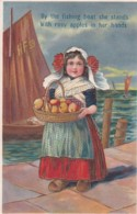 3817142By The Fishing Boat She Stands. Whit Rosy Apples In Her Hands. (Reliëf Kaart) - Humorvolle Karten