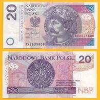 Poland 20 Zlotych P-184 2016 UNC Banknote - Polonia