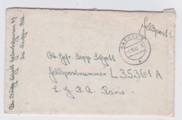 German Feldpost WW2: To Fallschirmjager-Regiment 1 Stab IFP L35361A LGPA Paris P/m Dachau 2 1.11.1942 - Militaria