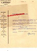 87 - LIMOGES - A. BENSADOUN 23 RUE JULES NORIAC-  MACHINE LAVER LAVIX-CEI FOURCHAMBAULT- E. HAEFELY SAINT LOUIS-CLARET- - Electricity & Gas