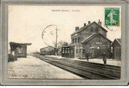 CPA - SALEUX (80) - Aspect De La Gare Côté Voies En 1910 - Other Municipalities