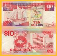 Singapore 10 Dollars P-20 1988 AUNC Banknote - Singapore