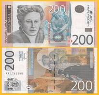 Serbia 200 Dinara P-58b 2013 UNC Banknote - Servië