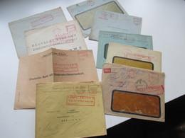 1931-34  Freistempel 9 Belege Rumänien Schweiz, Niederlande Italien Und Ungarn 1x Bahnpost Breslau - Beuthen Oberschles - Collections (without Album)