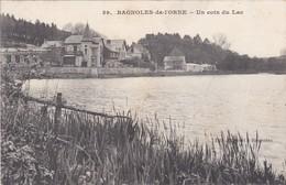 F61-025 BAGNOLES DE L'ORNE - UN COIN DU LAC ET MAGASIN D'ANTIQUITÉS - Bagnoles De L'Orne