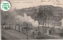 47 - Très Belle Carte Postale Ancienne De  AGEN  Coteau De L'Hermitage  Avec Train En Gros Plan  ( A Voyagé ) - Agen