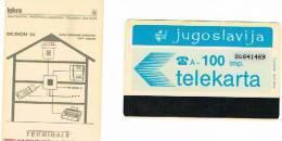 JUGOSLAVIA, JUGOSLAVIJA, YUGOSLAVIA  - PTT  AUTELCA  100 IMP. ISKRA TERMINALS    - USED   -  RIF. 910 - Jugoslawien