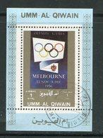 UMM AL-QIWAIN- Timbre Oblitéré - Verano 1956: Melbourne