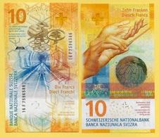 Switzerland 10 Franken P-75 2016(2017) Sign. Studer & Maechler UNC Banknote - Suiza