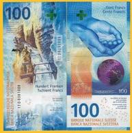 Switzerland 100 Franken P-new 2017(2019) Sign. Studer & Zurbrügg UNC Banknote - Switzerland