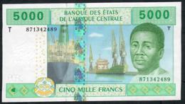 C.A.S. CONGO P109Td 5000 FRANCS 2002 Signature 13 = Tolli/Aleka-Rybert UNC. - Zentralafrikanische Staaten