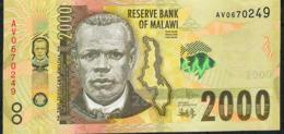 MALAWI  P69b 2000 KWACHA  1..1.2017   #AV    UNC - Malawi