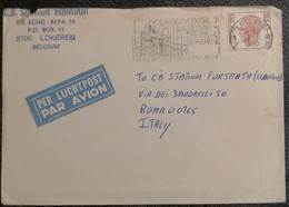 1980 Belgie Lokeren - Orgel En Beiaard Festival  Julien Augustus Van Eik Jaar 9f- Used Stamp On Air Mail Cover To Italy - Belgium