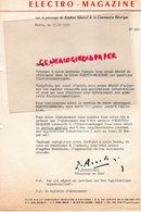 75- PARIS- LETTRE REVUE ELECTRO MAGAZINE- CONSTRUCTION ELECTRIQUE- REDACTEUR P. ROCCHISANI- 40 RUE DU COLISEE   1953 - Electricity & Gas