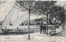 MONTREUX → La Promenade  Mit Touristen Anno 1901 - VD Vaud