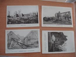 Guerre 14.18 Somme Lot 24 Carte Ruine Lihons Le Quesnoy Fontaine Les Cappy Etc. - Guerra 1914-18