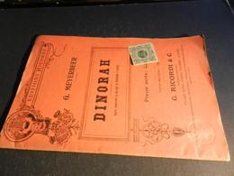 9) MEYERBEER DINORAH LIBRETTO D'OPERA EDIZIONE RICORDI - Opéra