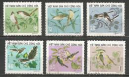 Vietnam 1973 Used Stamps  Mi 735-40  Birds - Viêt-Nam