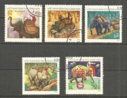 Vietnam 1974 Used Stamps  Mi 751-55 - Viêt-Nam